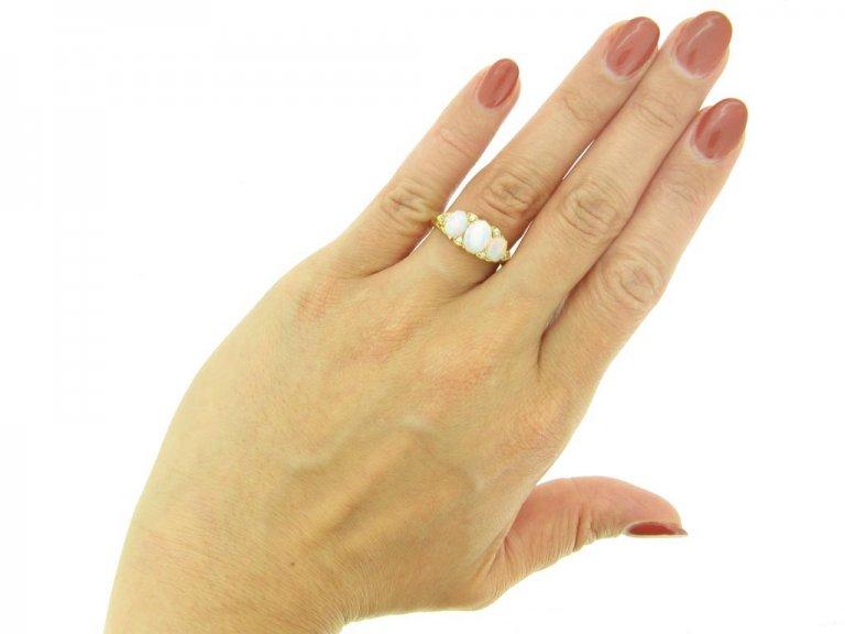 front antique opal diamond ring berganza hatton garden