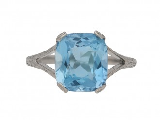 antique aquamarine ring berganza hatton garden