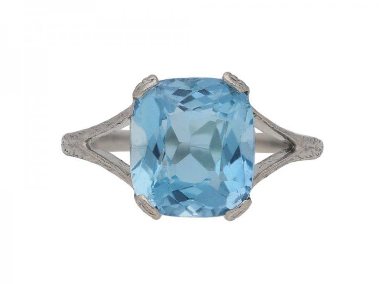 antique aquamarine ring berganza hatton garden