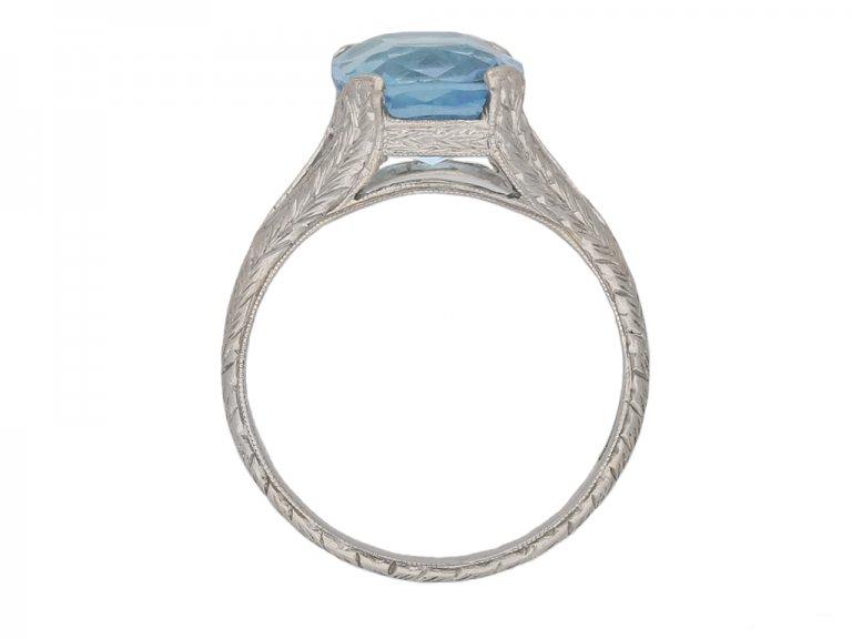 front antique aquamarine ring berganza hatton garden
