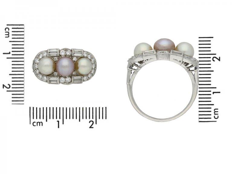 vintage pearl diamond ring berganza hatton garden