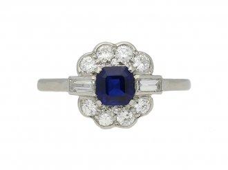 antique sapphire diamond cluster ring berganza hatton garden
