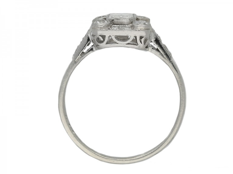 front art deco diamond cluster ring berganza hatton garden