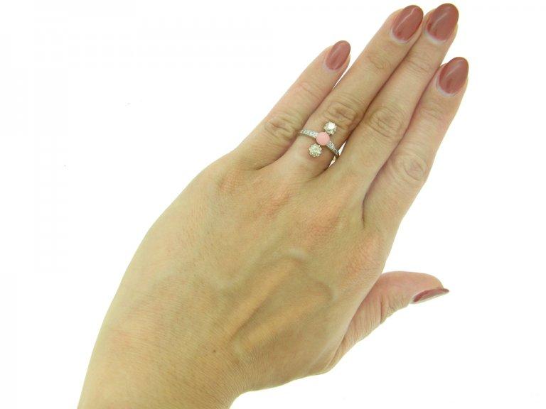 front antique conch pearl diamond ring hatton garden berganza