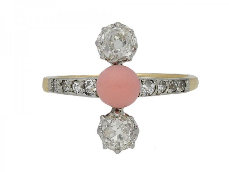 antique conch pearl diamond ring hatton garden berganza