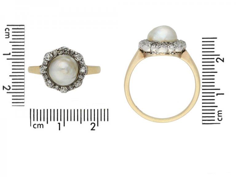 front antique pearl diamond cluster ring berganza hatton garden