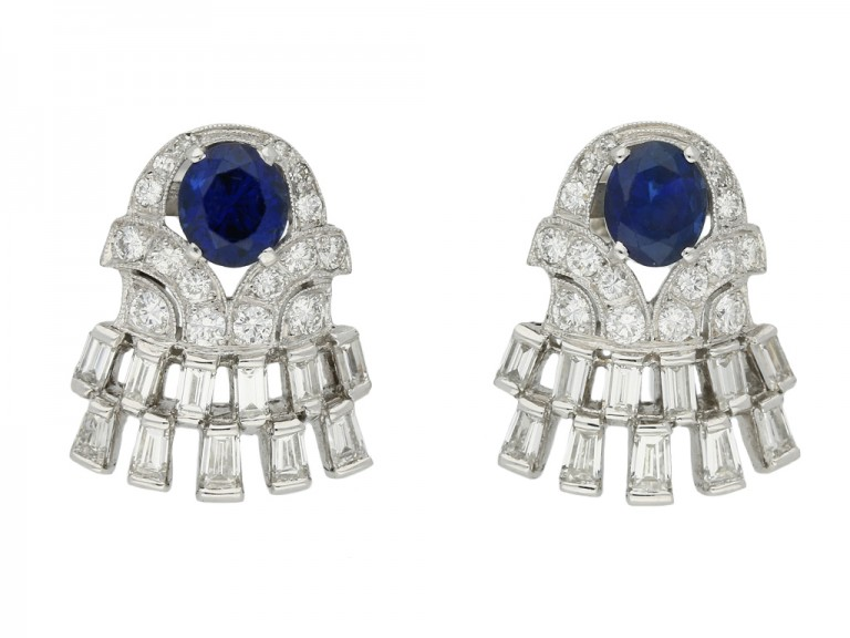 vintage sapphire diamond earrings berganza hatton garden