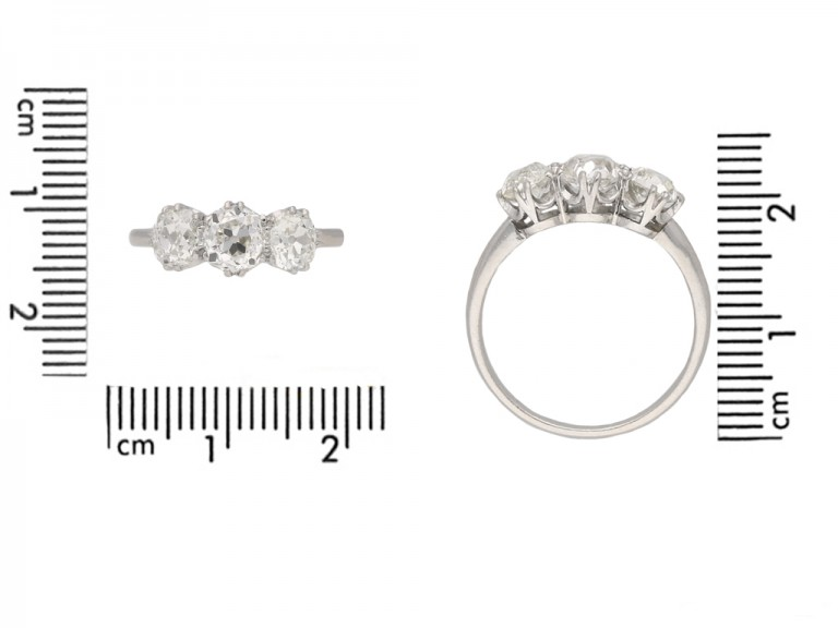 front antique diamond three stone ring hatton garden berganza