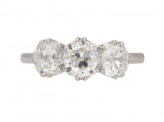 antique diamond three stone ring hatton garden berganza