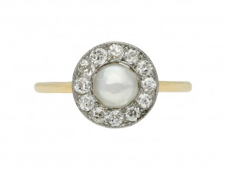 antique diamond natural pearl ring berganza hatton garden