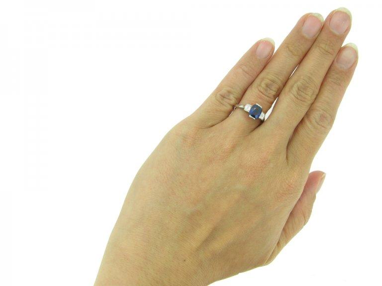 front art deco sapphire diamond ring hatton garden berganza