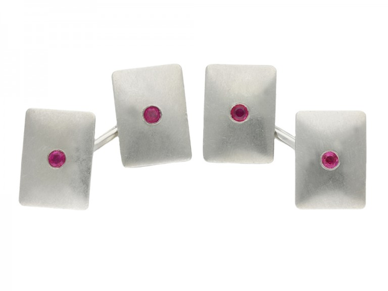 vintage tiffany ruby cufflinks berganza hatton garden