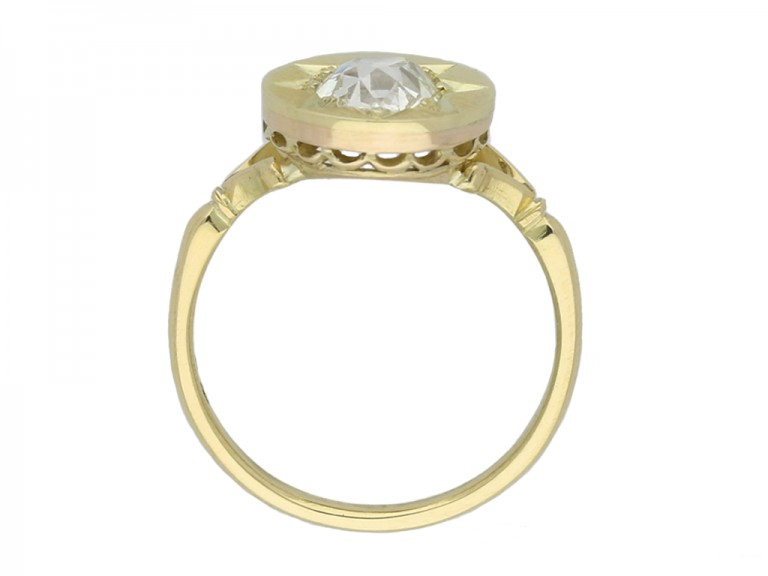 front antique diamond solitaire ring berganza hatton garden
