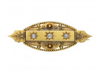 antique diamond gold brooch berganza hatton garden