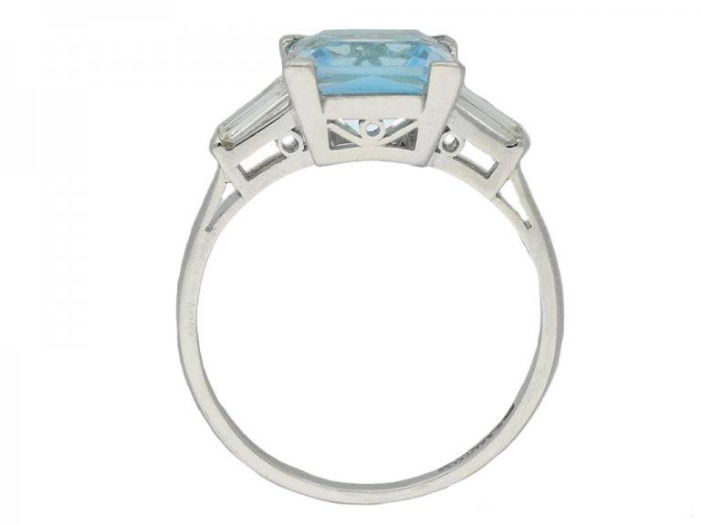 back Art Deco aquamarine diamond ring berganza hatton garden