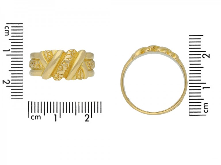 antique carved gold band ring berganza hatton garden