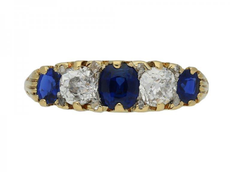 antique sapphire diamond carved ring berganza hatton garden