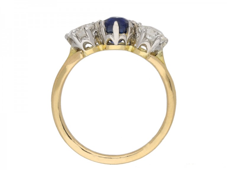 front antique diamond sapphire ring hatton garden berganza