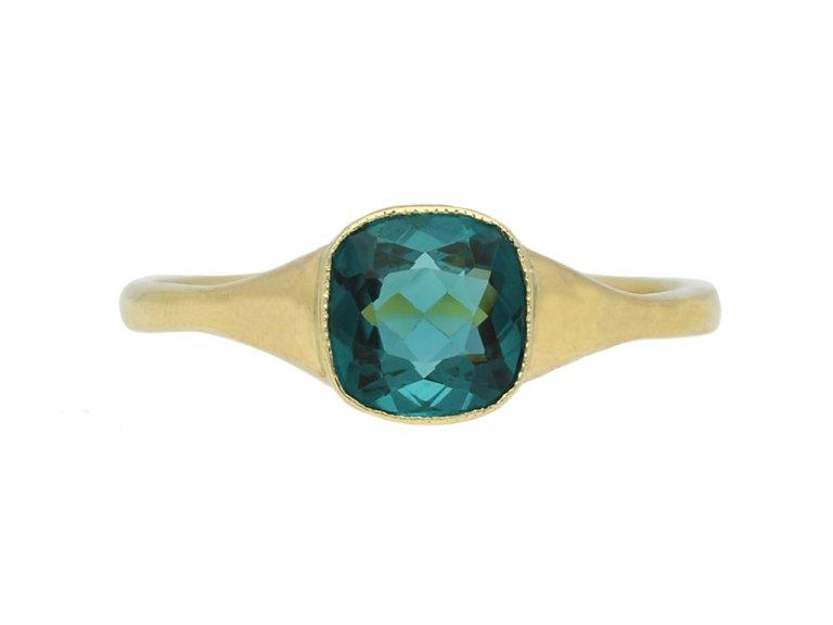antique tourmaline solitaire ring berganza hatton garden