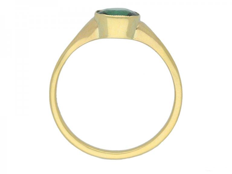 front antique tourmaline solitaire ring berganza hatton garden