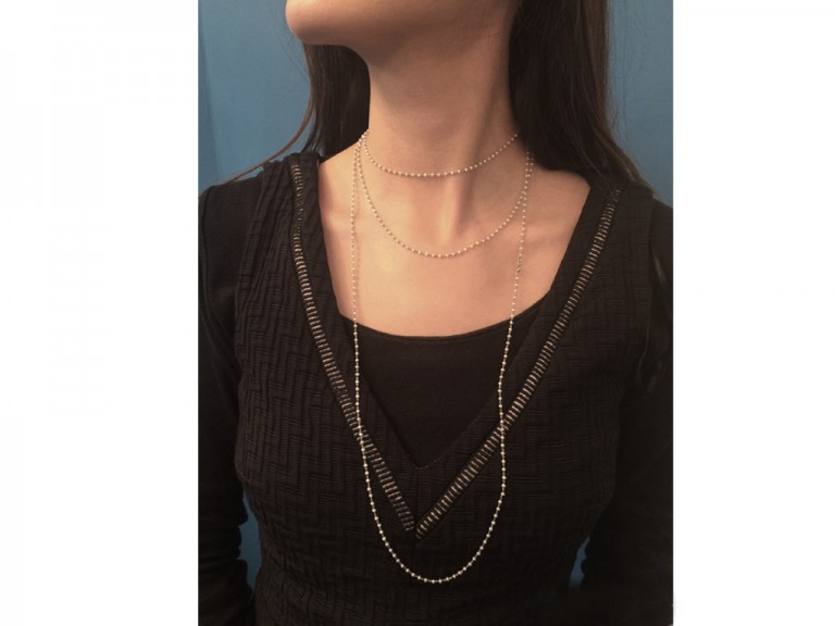 vintage natural pearl chain necklace hatton garden berganza