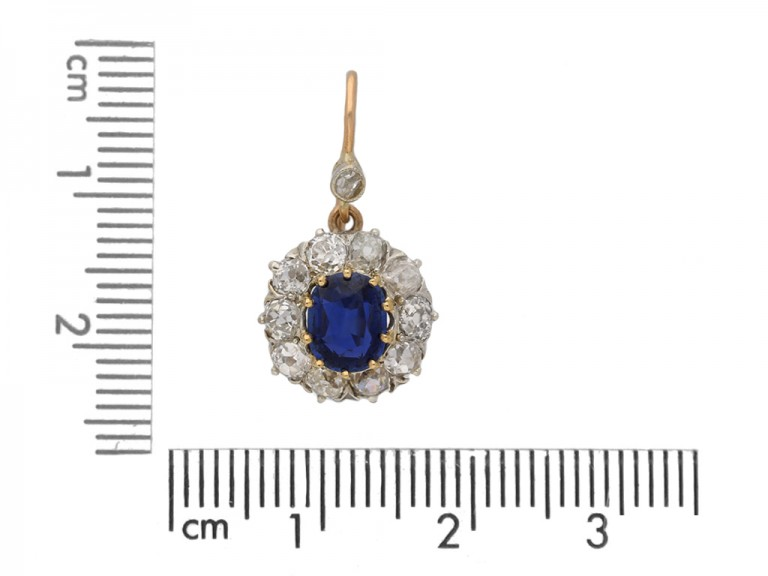ntique diamond sapphire earrings berganza hatton garden