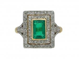 antique emerald diamond ring berganza hatton garden