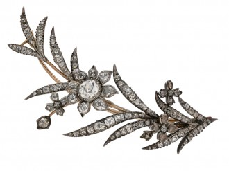 Georgian diamond brooch berganza hatton garden