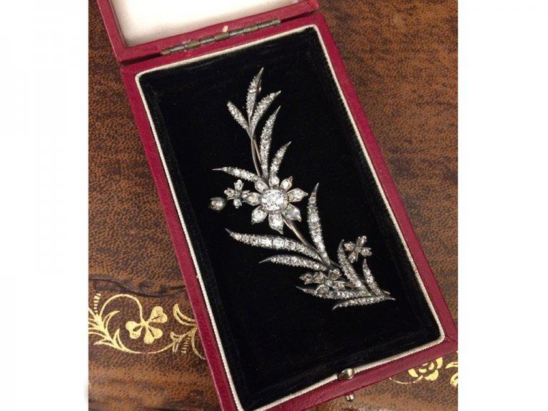 Georgian diamond brooch berganza hatton garden