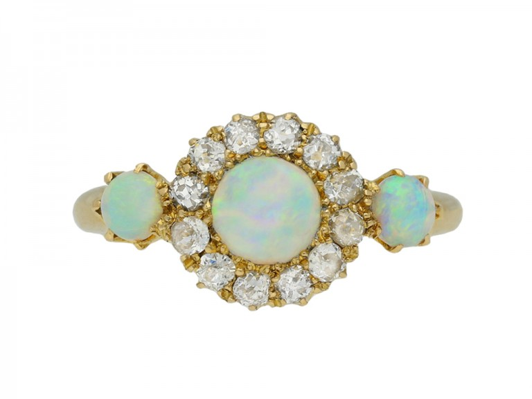antique opal diamond cluster ring hatton garden berganza