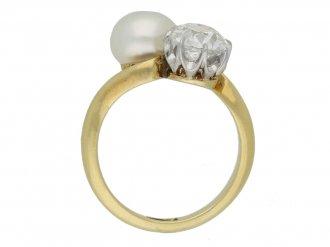 front antique diamond pearl ring hatton garden berganza