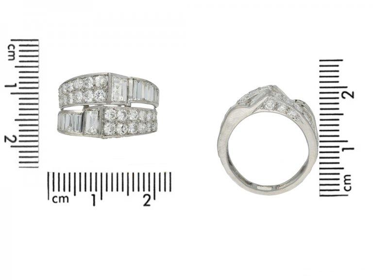 front art deco diamond cocktail ring hatton garden berganza