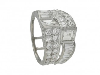 art deco diamond cocktail ring hatton garden berganza