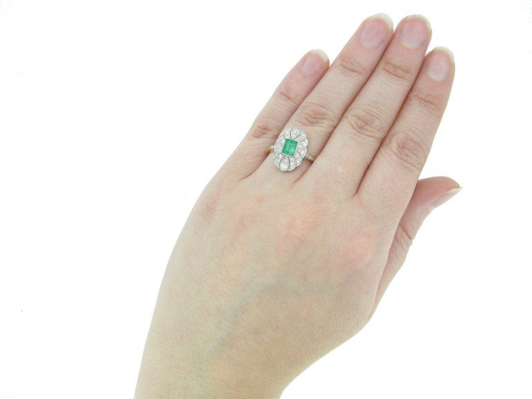 emerald diamond cluster ring hatton garden