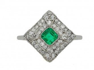 antique diamond emerlad cluster ring hatton garden berganza