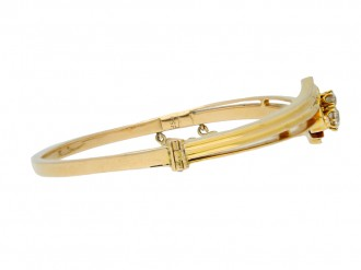 antique yellow gold diamond bangle hatton garden berganza