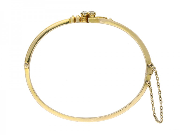 antique yellow gold diamond bangle hatton garden berganza