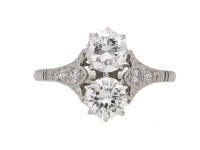 Antique diamond engagement ring hatton garden
