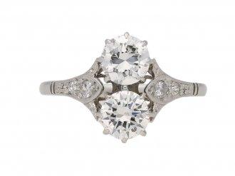 Antique diamond engagement ring hatton garden
