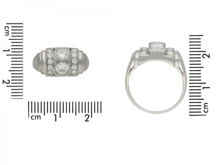 front art deco diamond cocktail ring hatton garden berganza