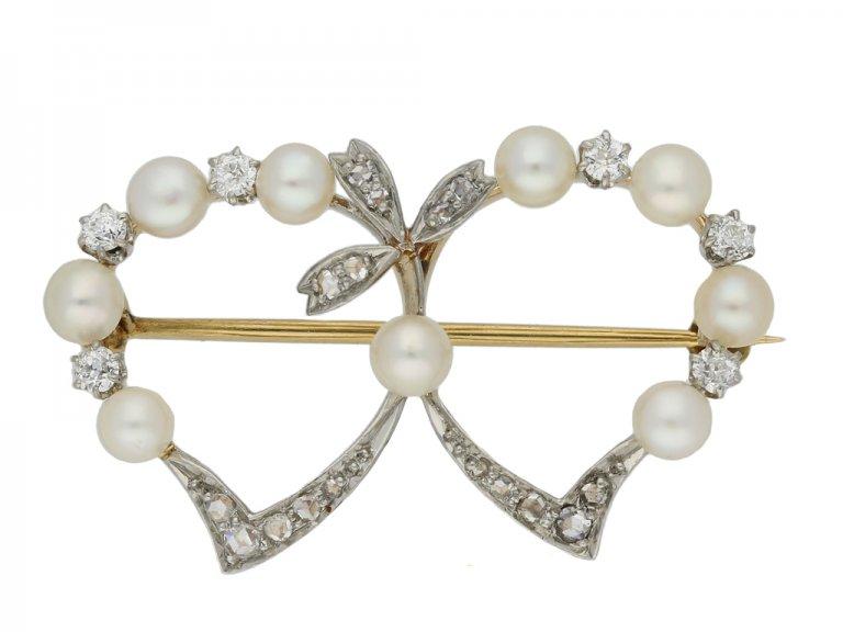 black star frost pearl diamond brooch berganza hatton garden
