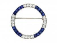 Caldwell sapphire diamond brooch hatton garden berganza
