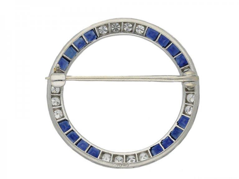 front Caldwell sapphire diamond brooch hatton garden berganza