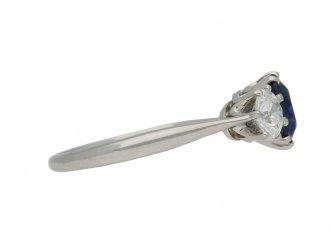 antique Burmese sapphire diamond ring berganza hatton garden