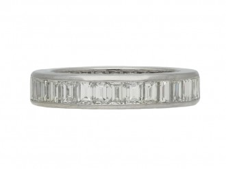 vintage baguette diamond eternity ring berganza hatton garden
