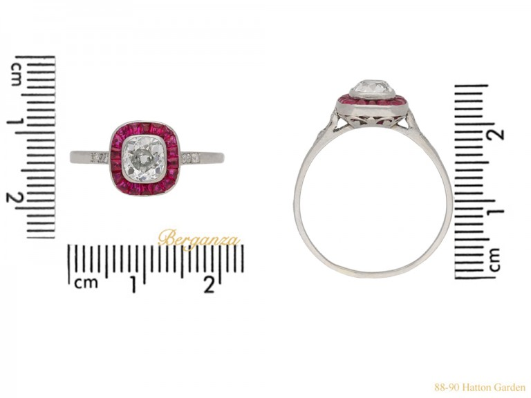 Diamond ruby target ring berganza hatton garden