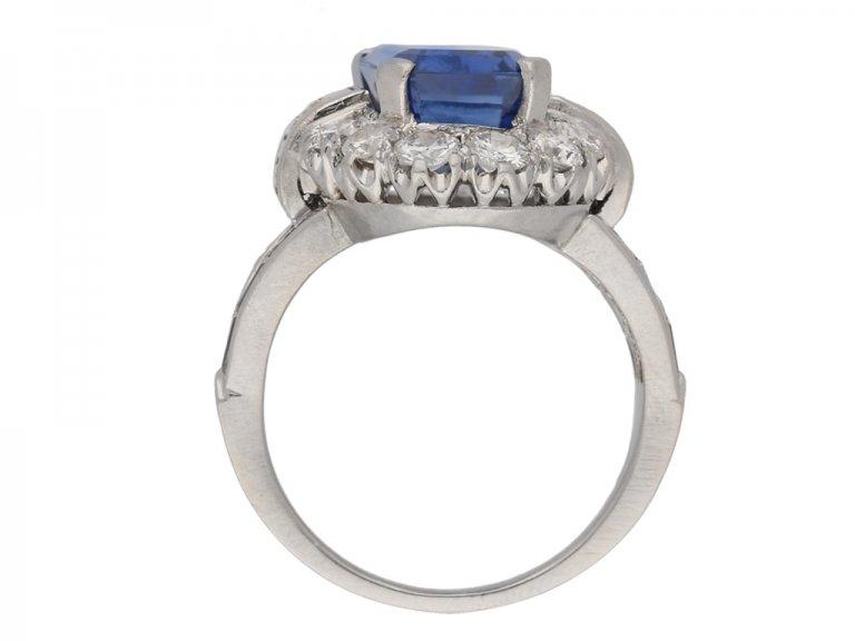 vintage sapphire diamond cluster ring berganza hatton garden