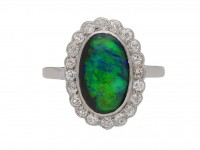 antique opal diamond cluster ring berganza hatton garden