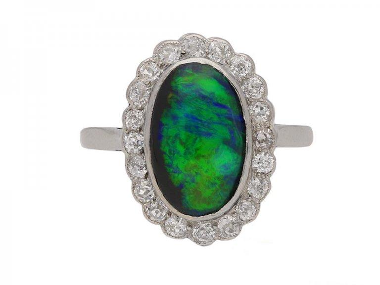 antique opal diamond cluster ring berganza hatton garden