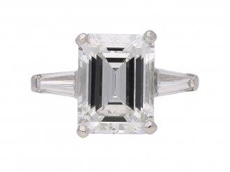 vintage emerld cut diamond ring berganza hatton garden